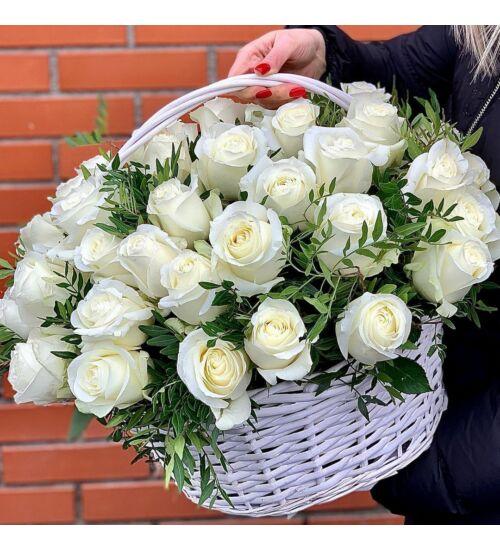 Fehér Rózsakosár