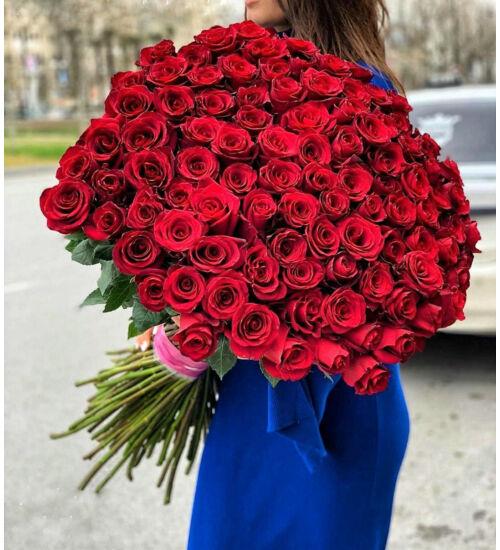 Vörös Rózsacsokor 100 szál