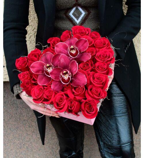 Vörös rózsadoboz
