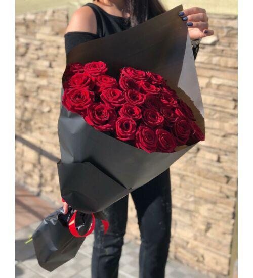 Vörös Rózsacsokor 25 szál