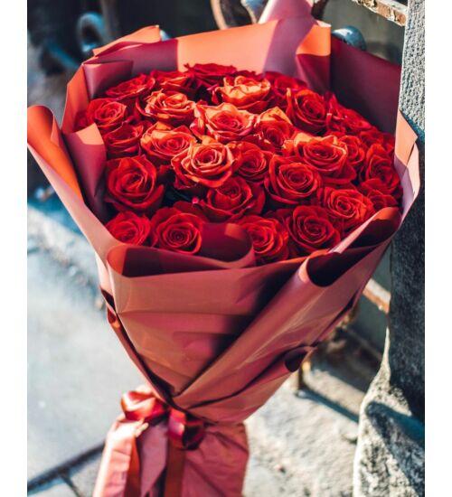 Vörös Rózsacsokor 30 szál