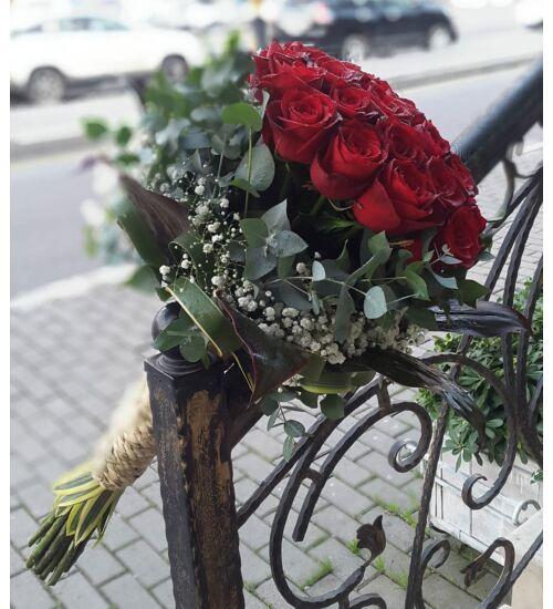 Vörös Rózsacsokor 20 szál