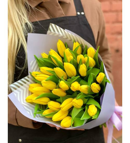 Sárga tulipáncsokor