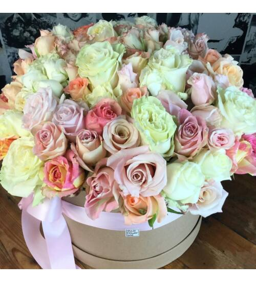 Pasztell rózsadoboz