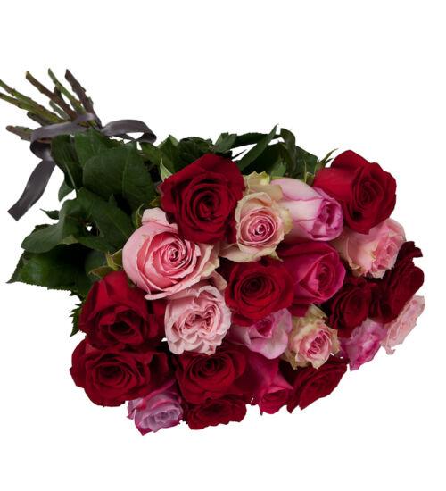 Vörös/Pink Rózsa Kötegben
